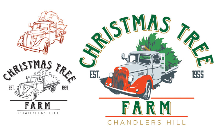 Christmas Tree Farm Logo.Design Solutions And Collaboration Equals Success For
